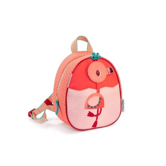 Sac à dos Anaïs de la marque Lilliputiens est un sac à dos pour enfant avec un flamant rose