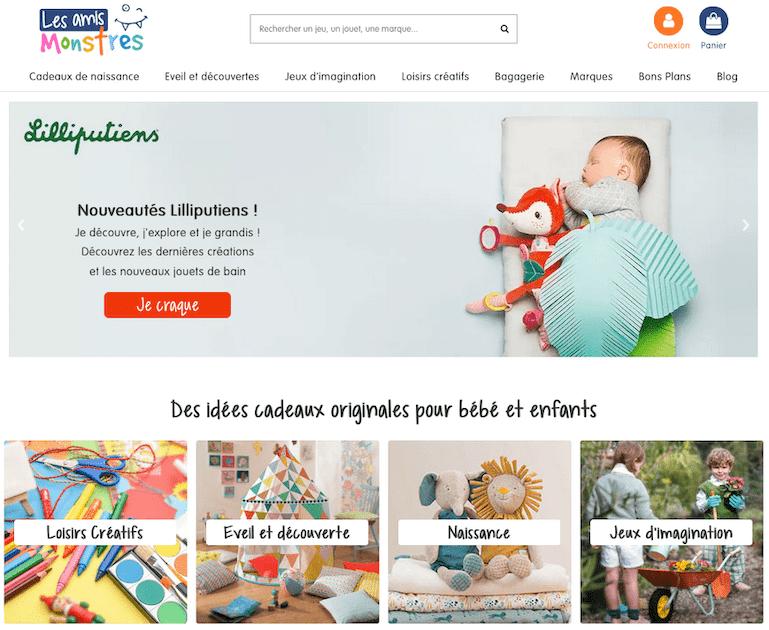 Découverte du site et des jouets de la marque Les Amis Monstres