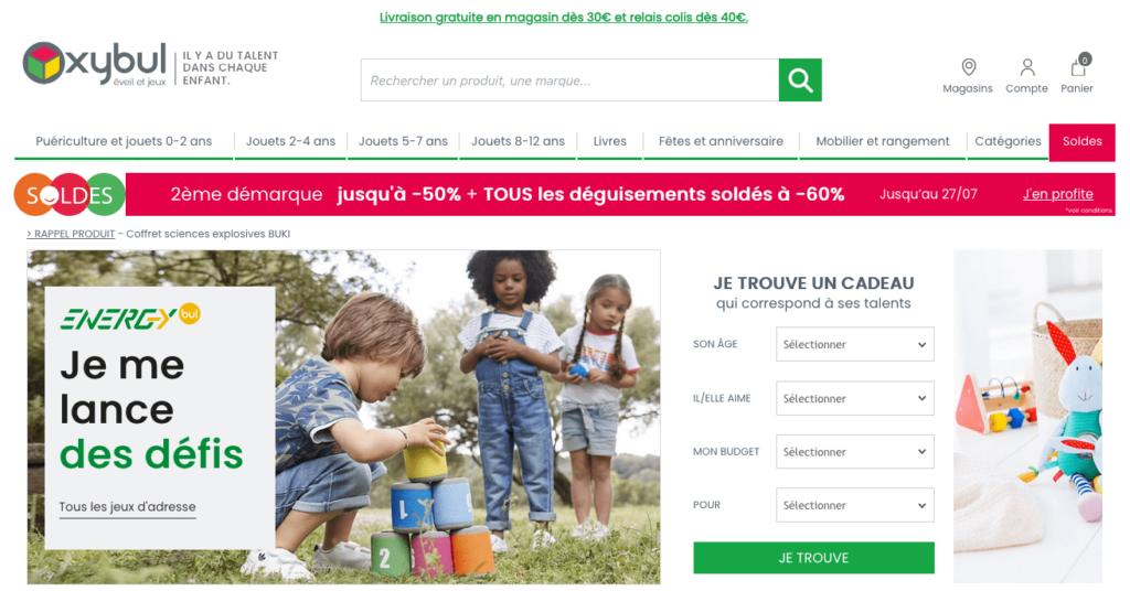 Profite des soldes pour acheter de beaux jouets pour enfants sur Oxybul