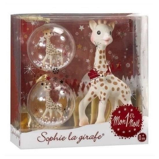 Idée de cadeau de Noël pour bébé : le coffret mon premier Noël Sophie la girafe