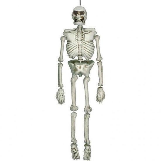 Grand squelette 3D en plastique pour Halloween