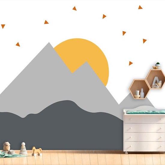 Sticker montagne pour chambre d'enfant - Créatrice ETSY : WallArtStorrre