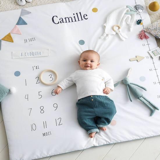 Tapis photo bébé personnalisable
