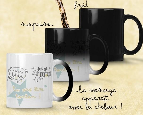 Mug magique personnalisable pour annoncer sa grossesse à Noël