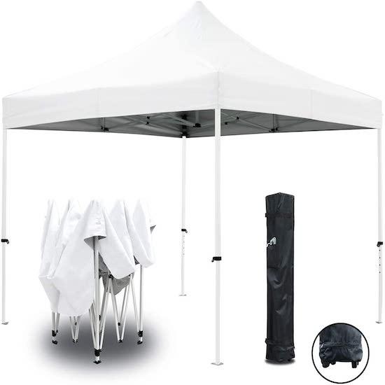 Tente Pliante Blanche 3x3m ECO GREADEN