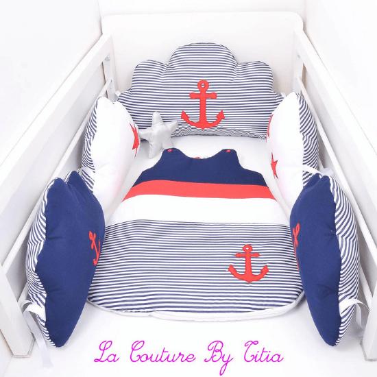 Tour de lit marin - Créatrice ETSY : LaCoutureByTitia