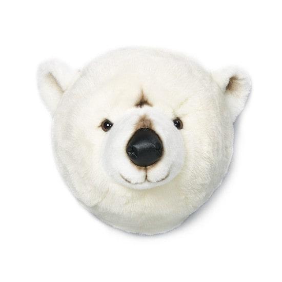 Trophée tête ours à mettre en guise de déco dans une chambre d'enfant
