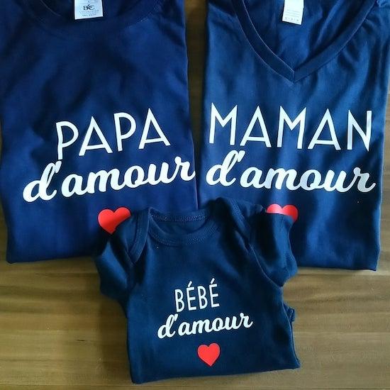 Collection vêtements assortis pour mamans et bébés - Créatrice ETSY : Mamounes